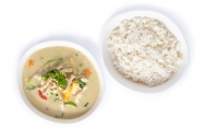 Chicken with Green Curry (Served with Rice)