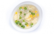 Chicken & Corn Soup with Asparagus