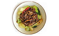 Spicy Duck with Sauteed Pak Choi
