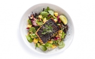Summer Salad With Salmon With Poppy